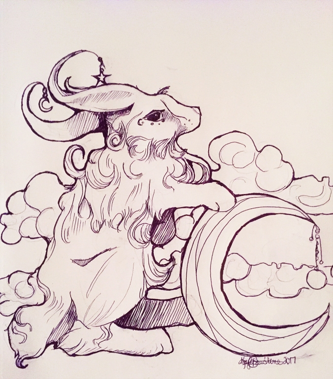mythical-rabbit-inktober