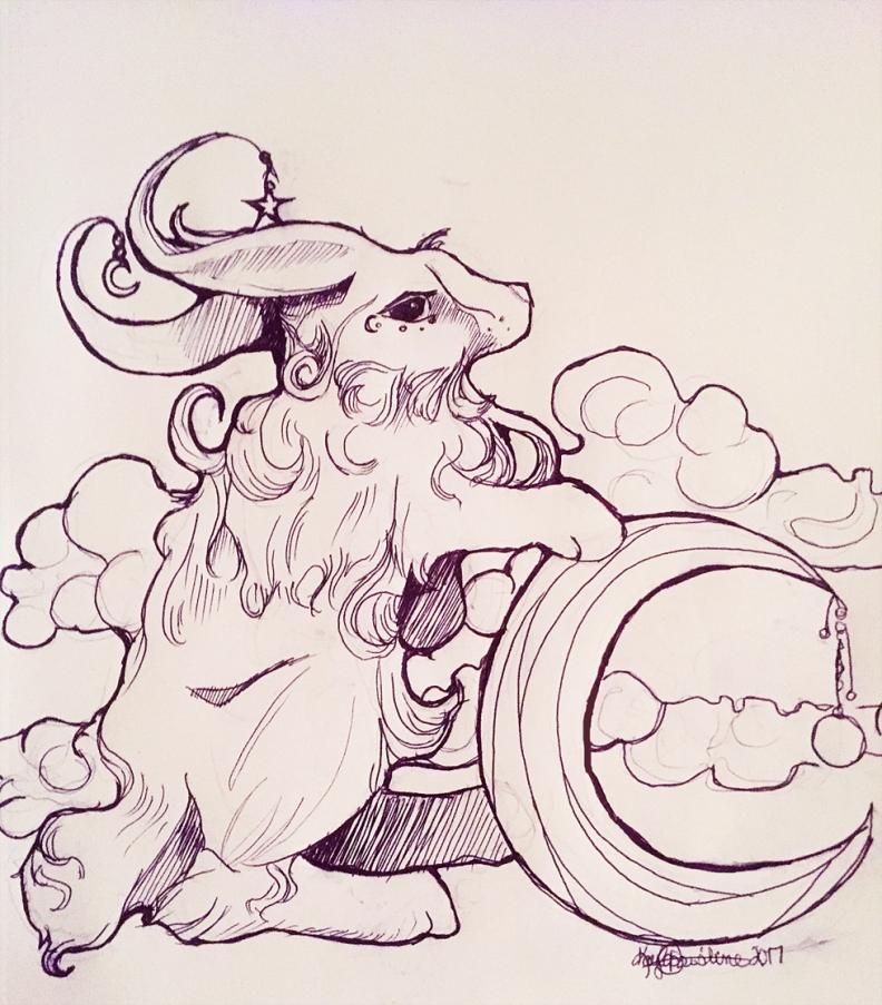 mythical-rabbit-inktober