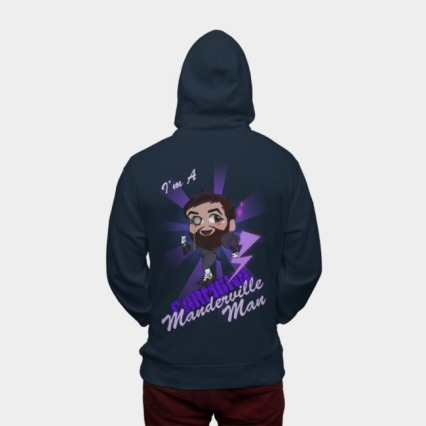 Andy Carmona Manderville Man Hoodie available at Design by Humans
