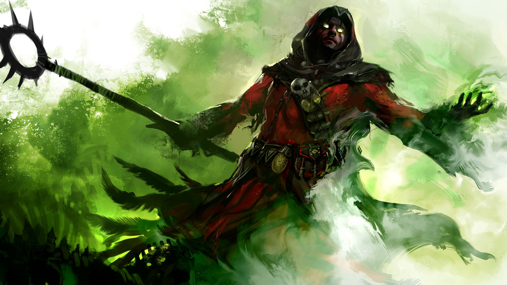 Human Necromancer Concept Art from Guild Wars 2
