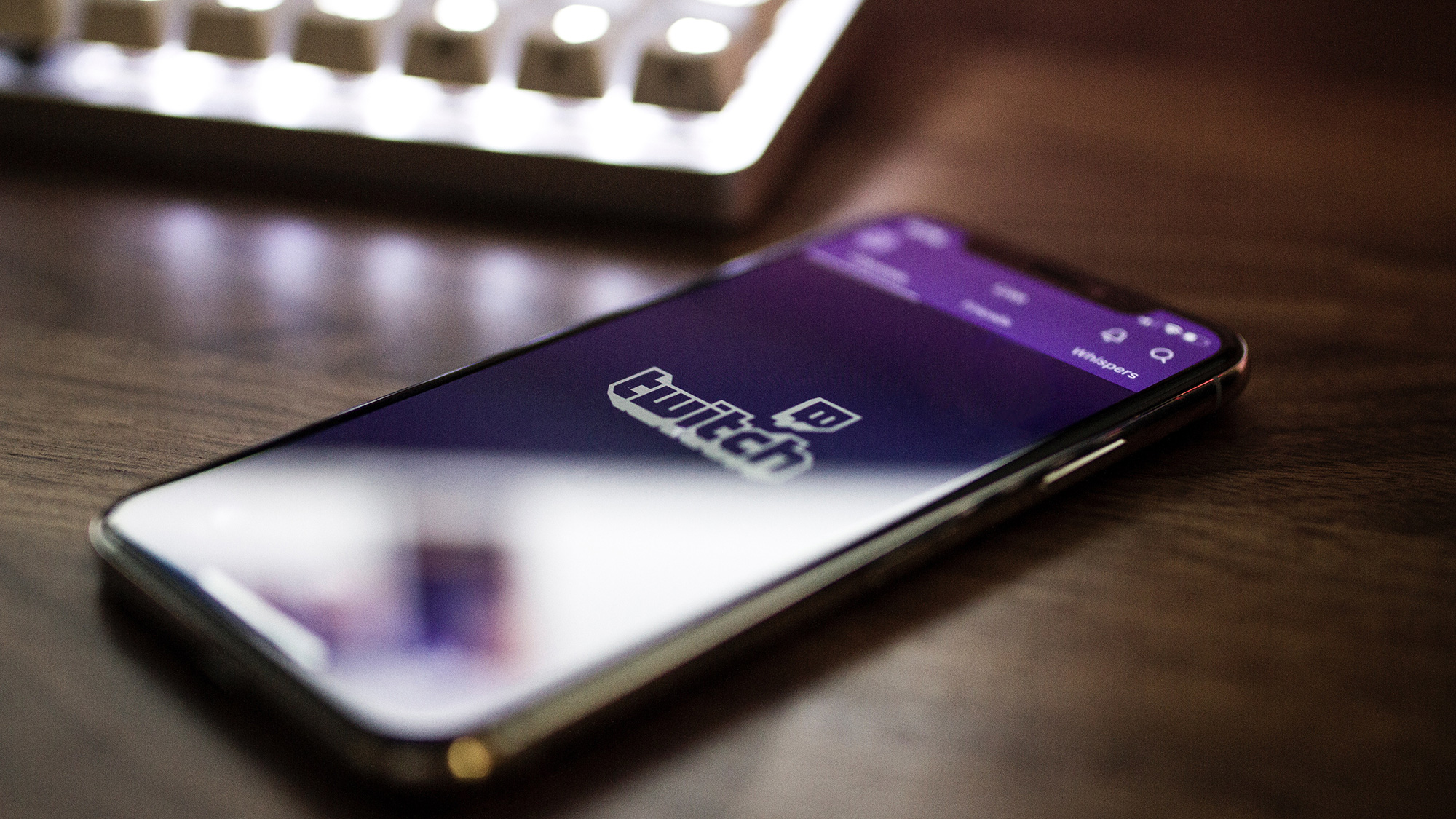 Twitch Mobile App on cell phone